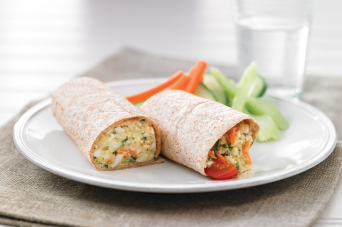Recipe - Greek style couscous and egg wrap